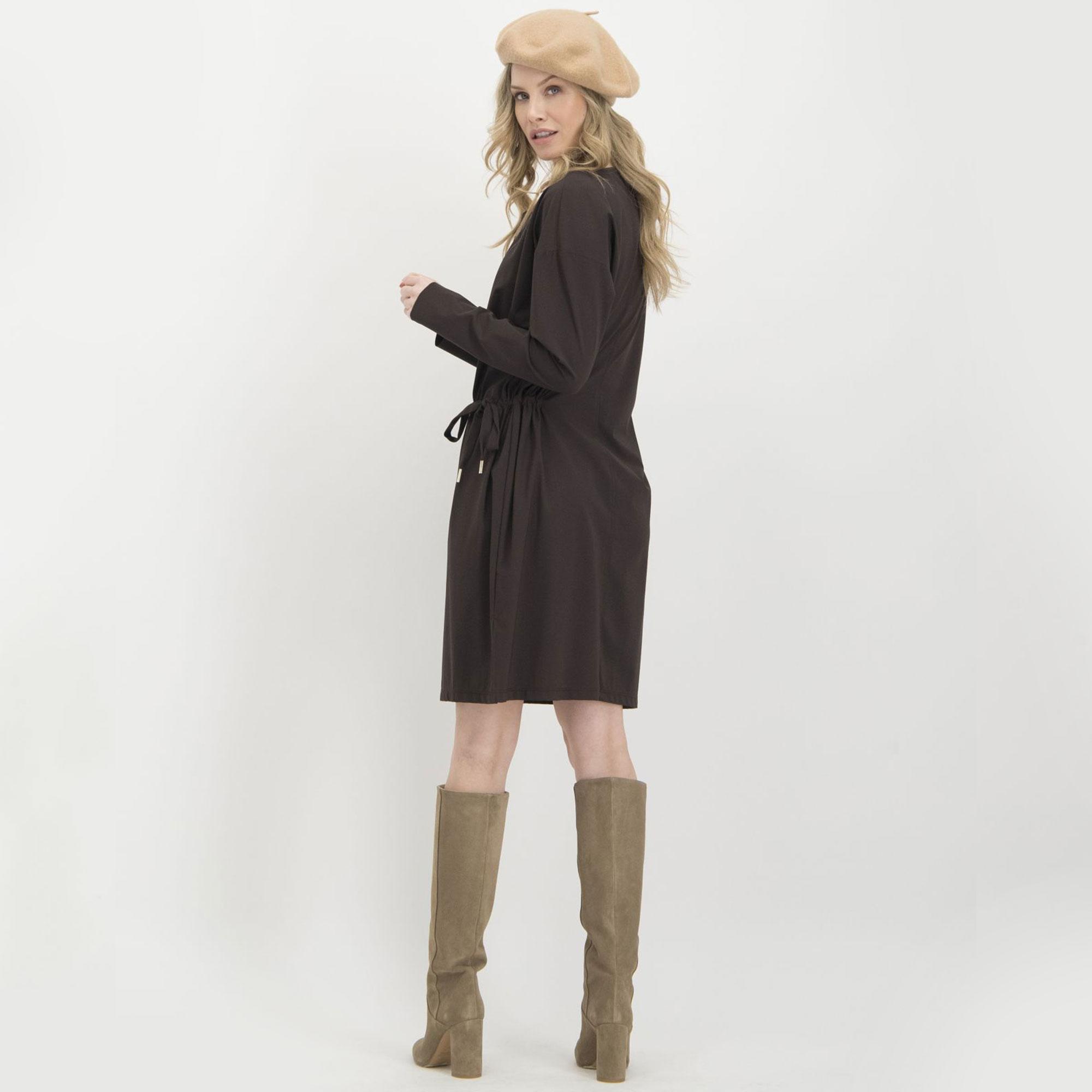 Kleid, braun - Look 4 Shop.de